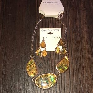 Matching necklace and earring set